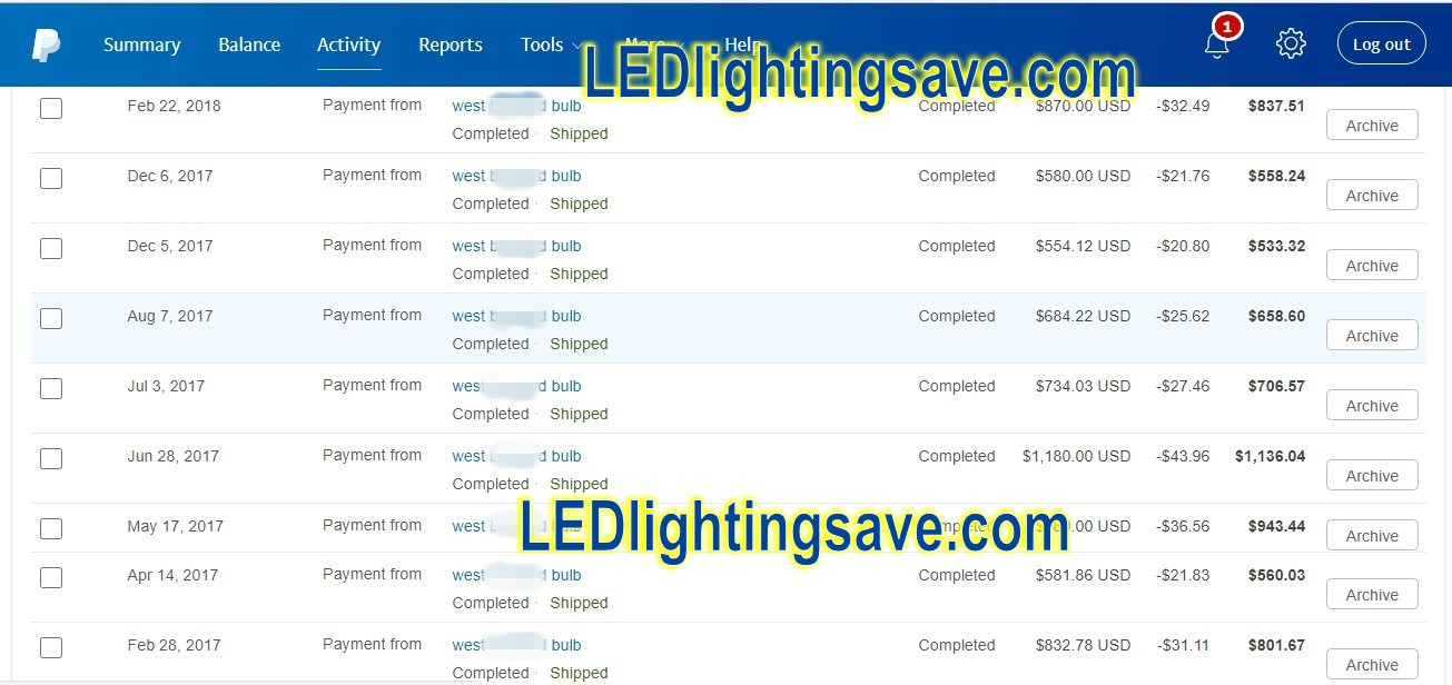 paypal_payment_to_ledlightingsave_for_led_light_controllers_wholesale_price