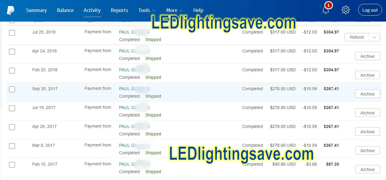 paypal_payment_to_ledlightingsave_for_led_light_controllers_wholesale_price_discount