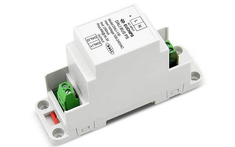 DALI-130 100V 240V AC 250mA 1ch Euchips LED DALI BUS Power Supply