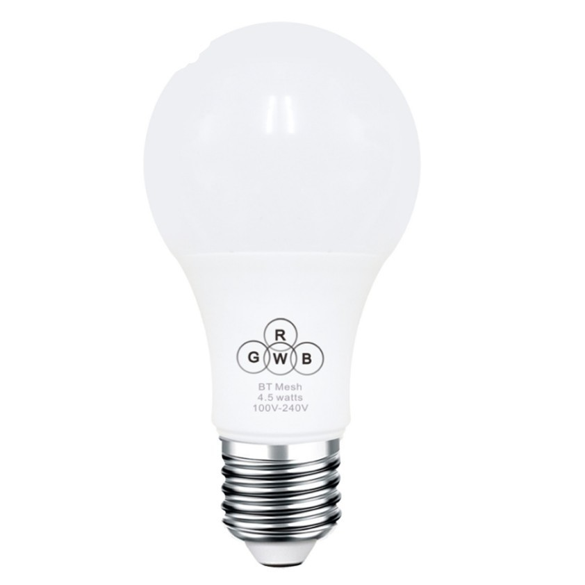 4.5W E27 RGBW Bluetooth Led Bulb Dimmable Lamp IOS Android APP Control