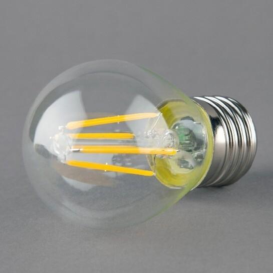 G45 E27 2W 4W Clear Glass LED Filament Bulb Edison Warm White Lamp
