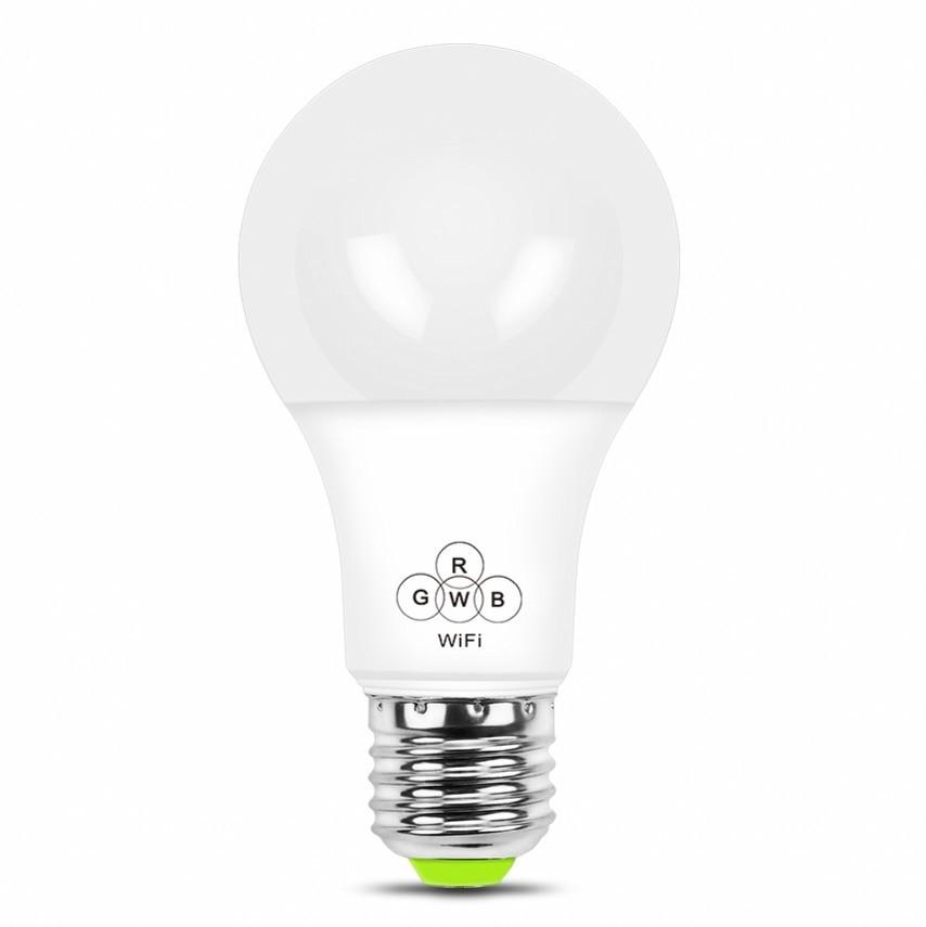 Smart Wifi Bulb 4.5W 6.5W E27 RGBW LED Light Lamp Dimmable Spotlight