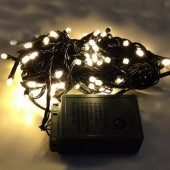 Warm White LED Bullet String Lights For Christmas Tree 10m 100Leds 2Pcs