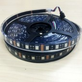 12V DC 16.4Ft Black PCB 5050 IP68 Underwater RGB Flex LED Strip Light