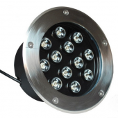 12W IP68 Waterproof Single Color LED Underground Light Yard Lamp