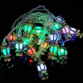 4M 20 LED Lanterns Shaped RGB Christmas String Light AC110V-240V 2Pcs