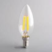 4W LED Filament Bulb Retro E14 E12 LED Candle lamp AC 110V 220V 5Pcs