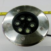 6W Round LED Underground Light Yard Buried Lamp IP68 Outdoor Light
