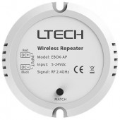 LTECH 5V~24VDC RF 2.4GHz EBOX-AP Wireless Repeater Led Controller