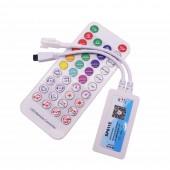 SP611E Pixel Strip LED Controller Bluetooth Music App IR Remote Control DC5V-24V