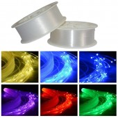3.0mm Diameter PMMA LED Fiber Optic Cable End Glow For Decoration Lighting 150 meters