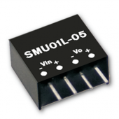 SMU01 1W Mean Well Unregulated Single Output Converter Power Supply 3Pcs