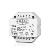 V4-S Skydance Led Controller 4CH*3A 12-24VDC Controller Flush or Surface Mounting