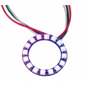2Pcs Ws2812b 16Leds Pixel Ring Addressable Ring Modules DC5V RGB