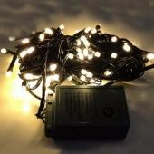 Warm White LED Bullet String Lights For Christmas Tree 10m 100Leds 2Pcs