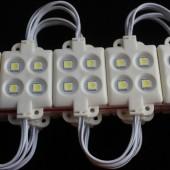 12V 4 LEDs 5050 Single Color LED Module ABS Plastic Waterproof String