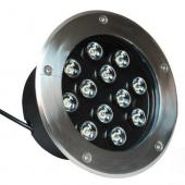 12W IP68 Waterproof Single Color LED Underground Light Yard Lamp