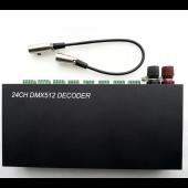 24 Channels DMX 512 Decoder LED RGB controller 3CH 8 Way