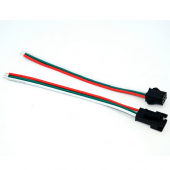 3 Pin Male Female Cable Wire Connector for WS2811 WS2812B LED Strip 10Pcs