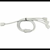 4 pin 1 to 3 splitter Easy plug RGB LED Extension Cord 10Pcs