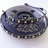Black PCB SMD 5050 RGBW LED Strip Waterproof 16.4Ft 300Leds
