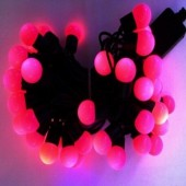 Ball Shaped Pink LED String Light For Wedding Party 5m 50 Leds