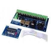 WS-DMX-18CH-LED Digital Display Decoder DMX512 XRL 3P RJ45 Controller