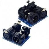 XLR5-XLR3 DMX512 Relays Connector