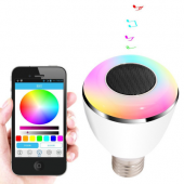 E27 6W RGBW Bluetooth Smart LED Bulb With 4 Speaker for IOS Android