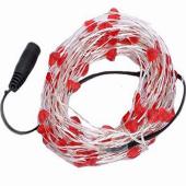 Heart Shaped Red 33Feet 10M 100 LED Copper Wire Fariy String Light 12V