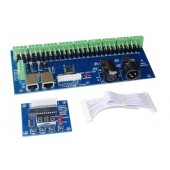 WS-DMX-27CH-RJ45-LED Hight Power 12-24v Dimmer 1A*27CH Decoder Controller