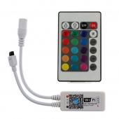 Wifi Wireless Control RGB RGBW LED Controller with 24 Key IR Remote